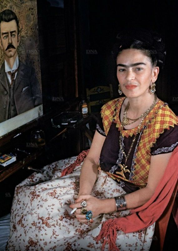 Frida Kahlo retratada por Gisèle Freund. Foto: Especial