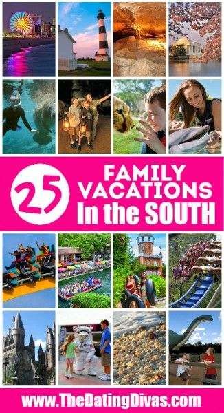 Best Family Vacations in the Southern US.  Brought to you by Chevrolet Traverse.  #traverse