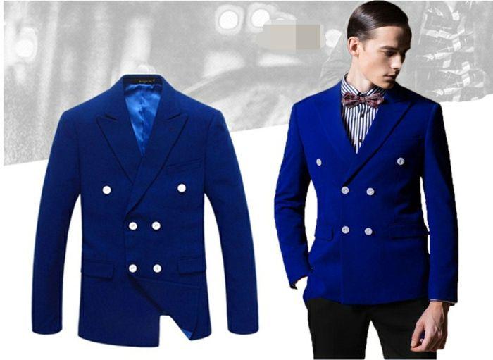 Que mettre avec une veste bleu homme