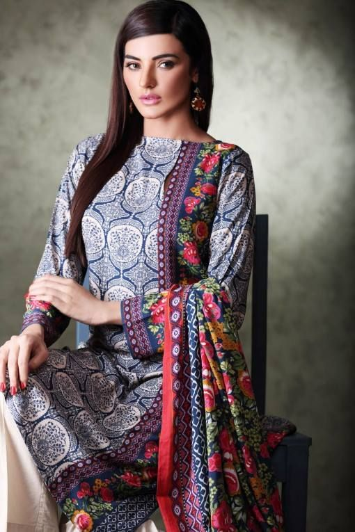 1315be9c78 Khaadi Unstitched Linen Winter Collection 2015 | Fashion and Style | Pakistani  dresses, Indian dresses, Fashion