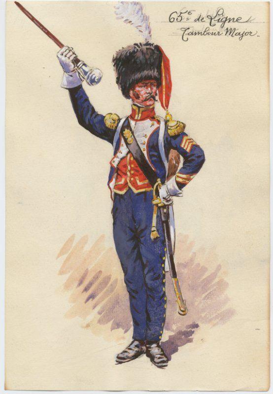 Tamburo maggiore del 65 rgt fanteria di linea Pinterest Tambour