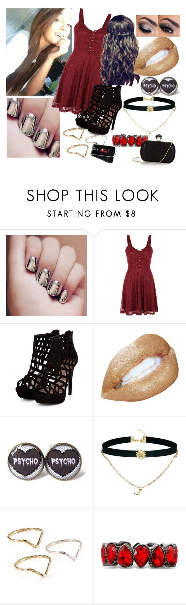 """""""Hades Daughter (Prom)"""" by colliner13 ❤ liked on Polyvore featuring ASOS, Phyllis + Rosie, DVF and LG"""