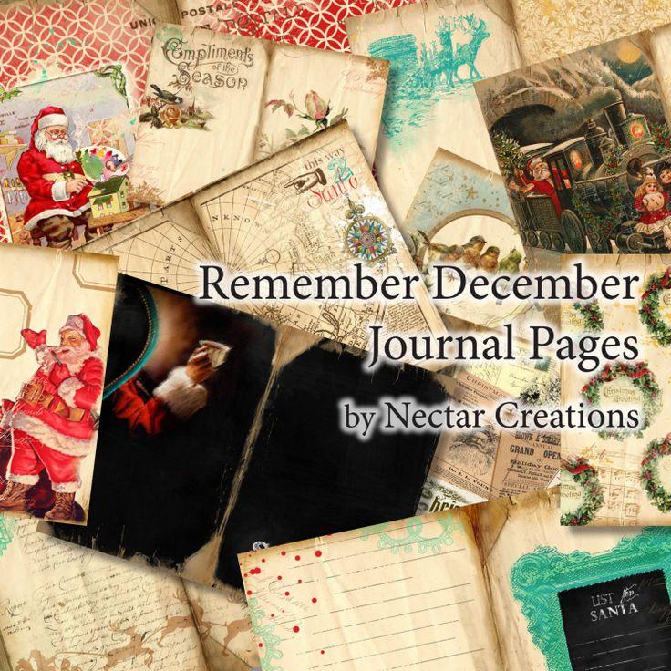 Remember December Printable Christmas Journal by NectarsCreations, $9.99