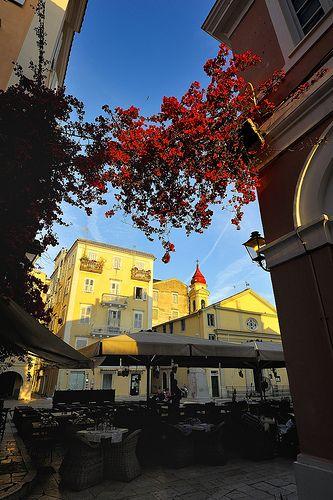 Cafe , Corfu, Greece