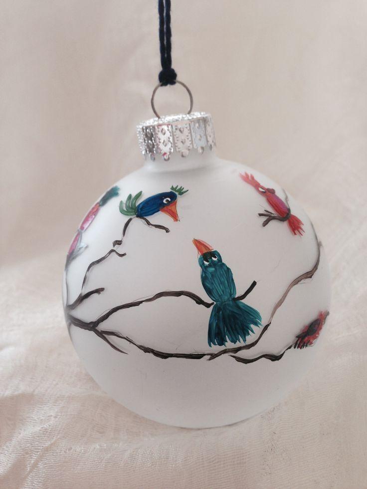 Bird ornament handpainted by Melissa McNamara