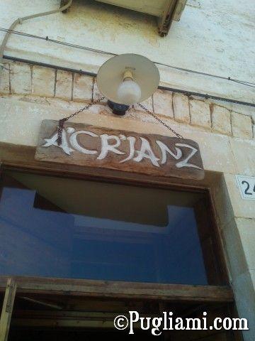 Osteria A'Cr'Janz (via Goito, 22/24)