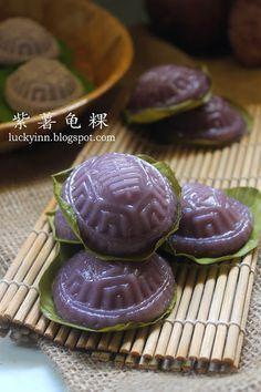 Luckyinn: 紫薯龟粿 Purple Sweet Potato Angku Kuih