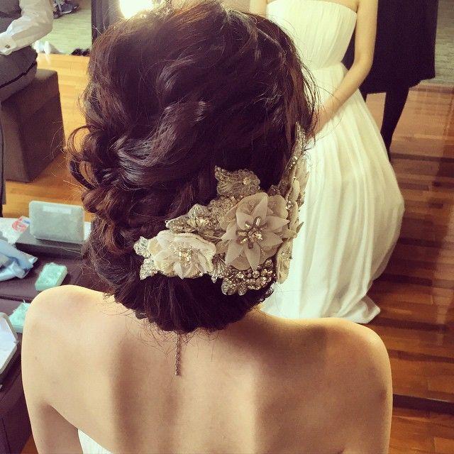 * * ウェディングヘア♡ ヘッドアクセ ステキ #ヘアアレンジ #ウェディング #fashion #wedding