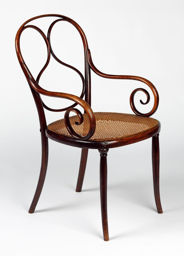 Armchair, model no. 1, designed and manufactured by Thonet Brothers (Gebrüder Thonet), about 1859. Museum no. W.30-2011