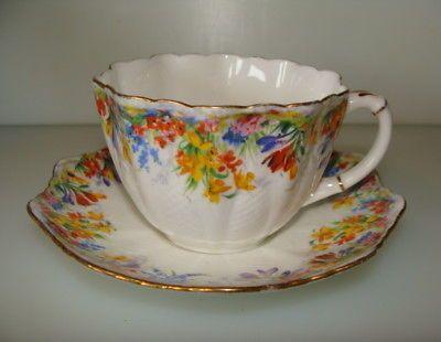 paragon star mark fine bone china tea cup and saucer England