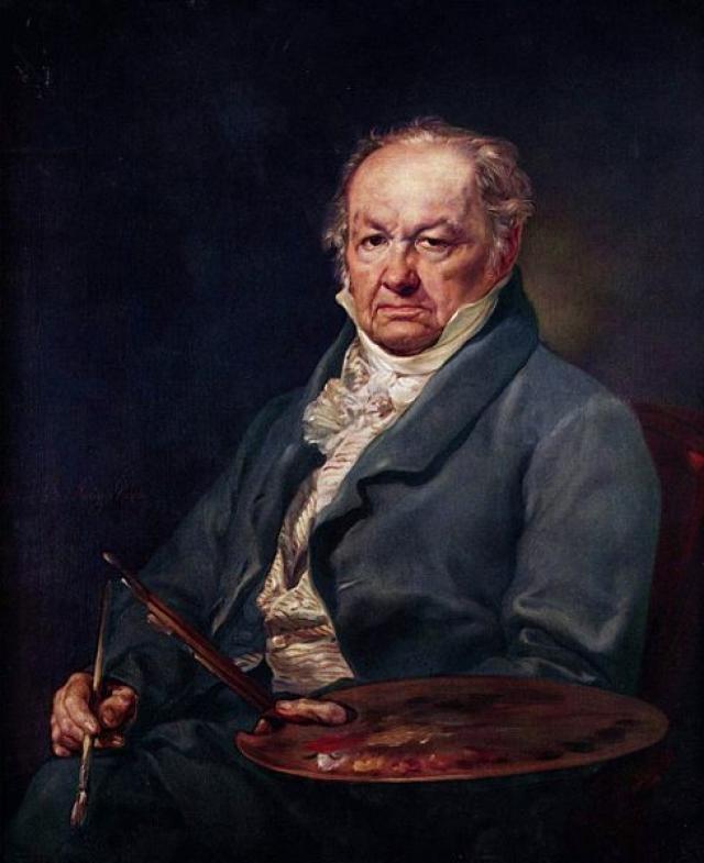 Retrato de Francisco de Goya por su maestro Vicente López.  Es magnífico