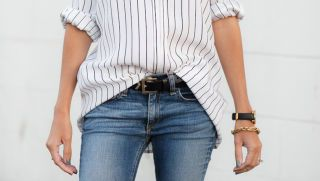 The Trick to a Perfect Front Tuck for a Long Shirt