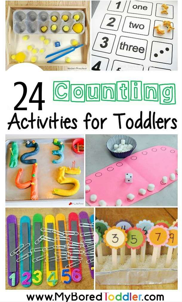 counting activities for toddlers. Number and counting ideas and activities. Great toddler learning ideas from My Bored Toddler