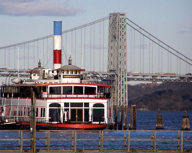 binghamton ferry images | George Washington Bridge & Binghamton Ferry Boat Restaurant, Edgewater ...