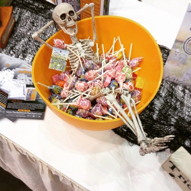 Candy bath. The Skeleton in the Closet!