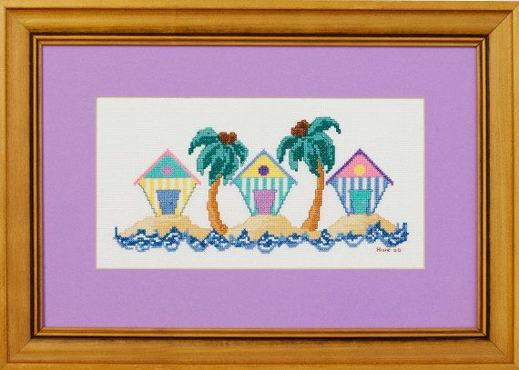 Summer Sands - A counted cross stitch design. $12.00, via Etsy.