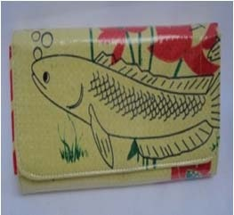 Fair Trade Recycled cement bag fish wallet