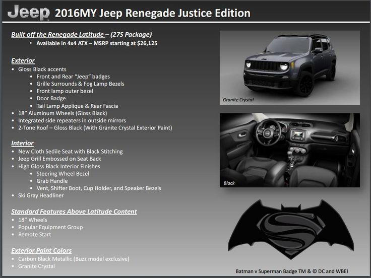 Jeep Renegade 2016 Batman vs Superman Special Edition