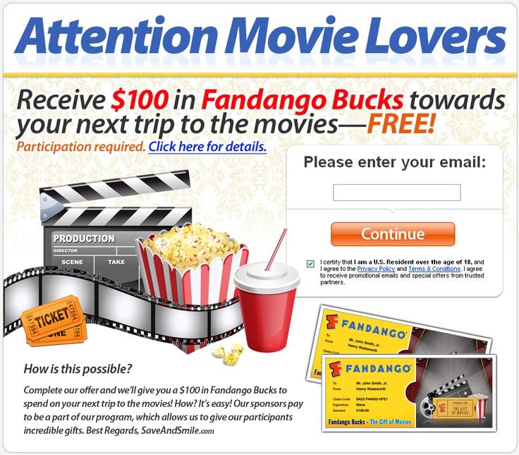 Fandango Night Out Offer Fandango Free Gift Cards Online Free