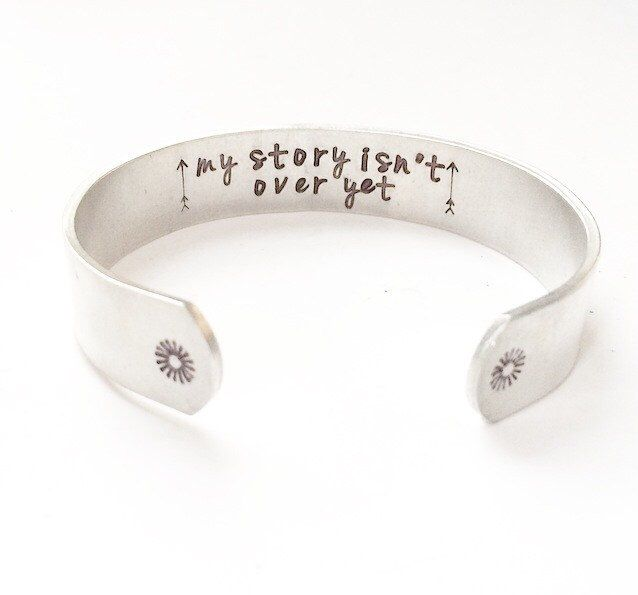 Semicolon Bracelet. Semicolon jewelry. My story isn't over yet by MysticSoulJewelry on Etsy https://www.etsy.com/listing/256668536/semicolon-bracelet-semicolon-jewelry-my