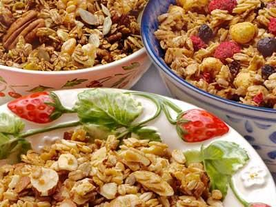 Maple almond granola, Stark Sisters Granola: Stark Sisters Granola offers three Vermont maple syrup-sweetened, non-GMO, wheat-free and vegan flavors. Maple Almond is the most popular of the three.: Artisan Products, Almond Granola, Granola Offering, Sisters Granola, Stark Sisters, Eastern Massachusetts, Maple Almond, Maple Syrup Sweetened, Offering Three