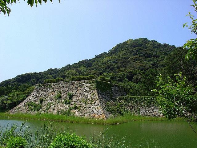 萩城跡と指月山(山口・萩) Hagi-jo Castle Ruin and Mount Shizuki, Hagi, Yamaguchi, Japan