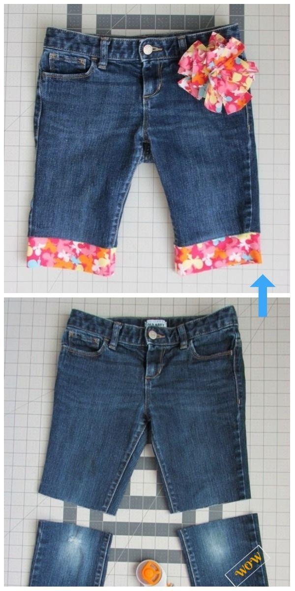 2b52c51b57246 DIY Cut Off Jean Shorts Refashion Old Jean Hack | Refashion | Jeans  refashion, Sewing clothes, Old jeans