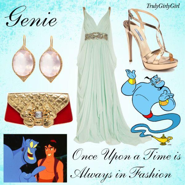 """""""Disney Style: Genie"""" by trulygirlygirl on Polyvore.    El vestido y los zapatos!!!"""