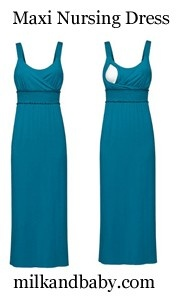 Must have Maxi Nursing Dress for the summer! www.milkandbaby.com $59 #breastfeeding