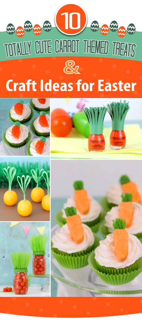 Cute Carrot Themed Easter Treats & Crafts