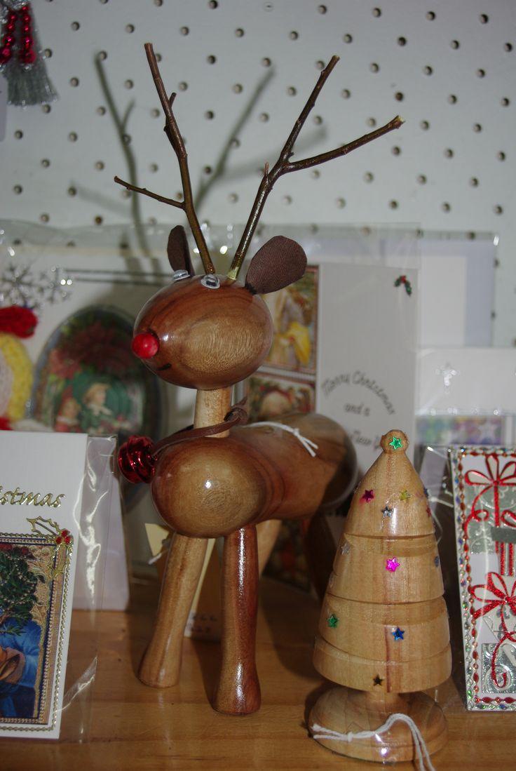 Rudolph and mini Christmas tree. (Nov 2013)