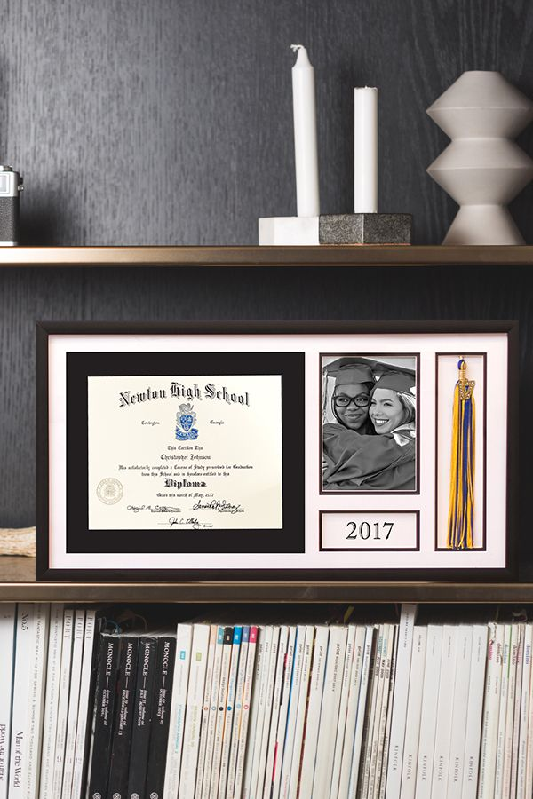 Honor your grad with an elegant Deluxe Diploma Frame.