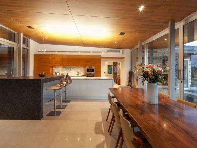 Ambiente Haus rustikale ambiente haus mit seeblick in neuseeland | villa