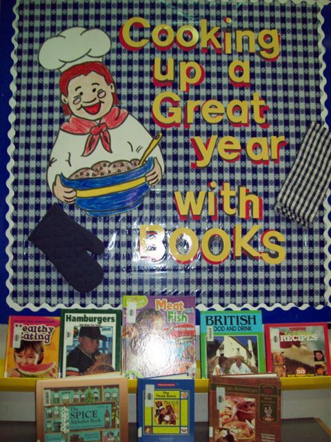 food classroom theme | board supports theme and introduces a variety of books about food ...