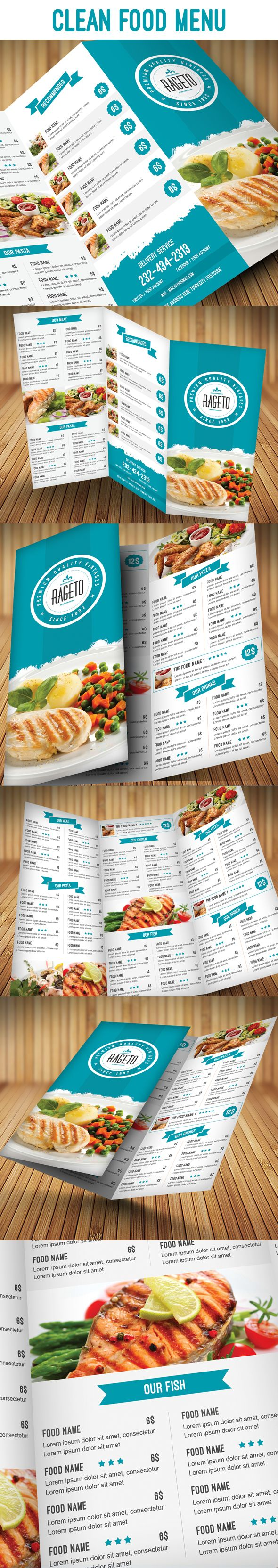 Psd Clean Food Menu on Behance