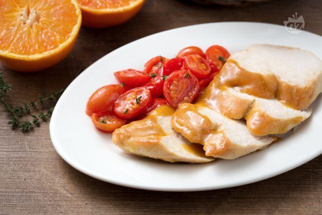 Petto di pollo all'arancia