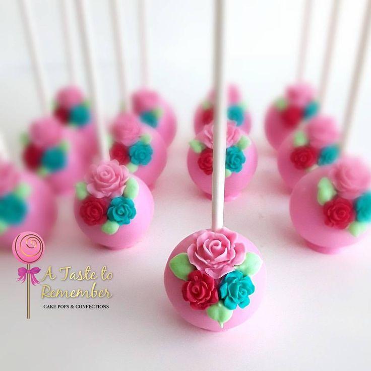 "386 Likes, 27 Comments - Cake Pops & Confections (@a_taste_to_remember) on Instagram: ""Floral cake pops for Ariah's 1st birthday celebration #floralcakepops #flowercakepops #flowers…"""