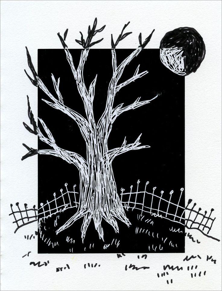 Grade Art Projects For Kids Positive Negative Scratch Tree