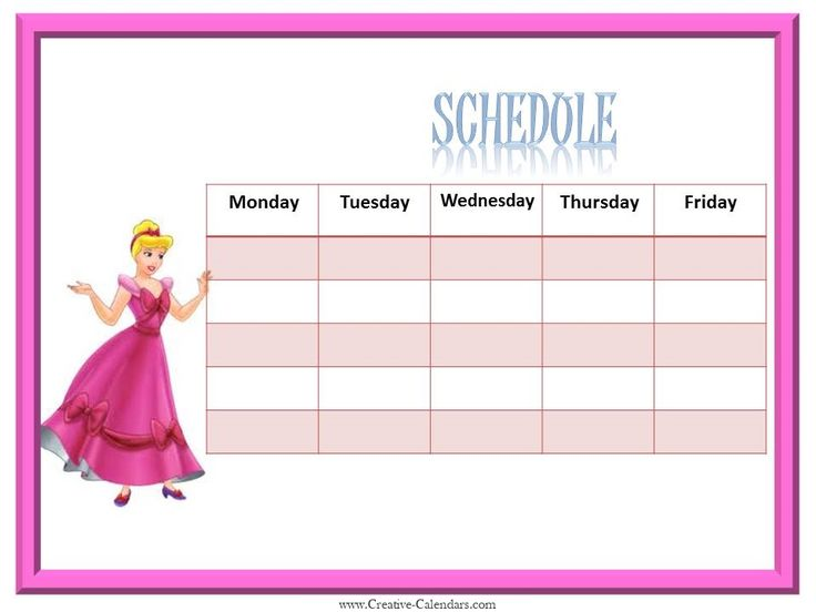 9 Best Weekly Calendar For Girls Images On Pinterest | Calendar
