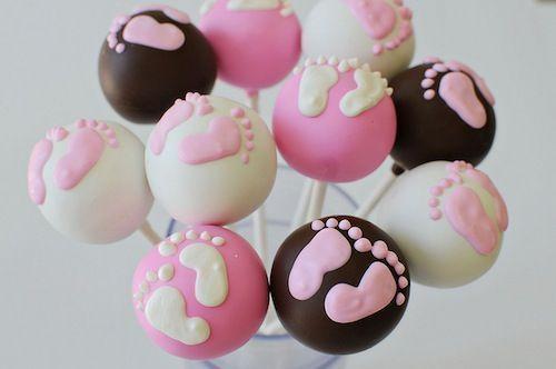 Baby shower cake pops!