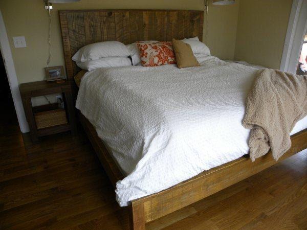 Rustic Vintage Plank King Bed Beautiful!!