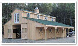 raised center aisle barn  Monitor Style Modular Barn   Horse Barns   Horizon Structures