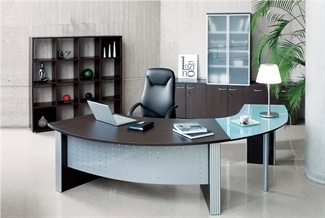 curved desk executive office