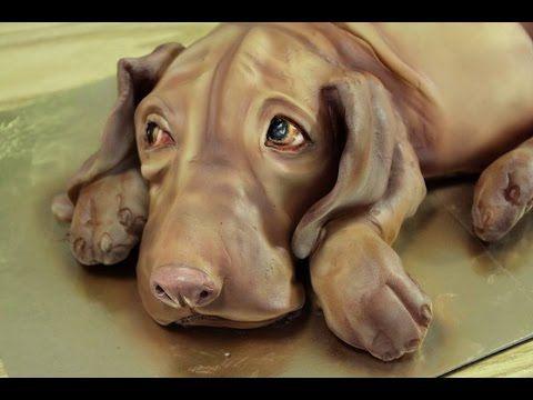Kricky Cake Decorating Airbrushed Realistic Vizsla Dog