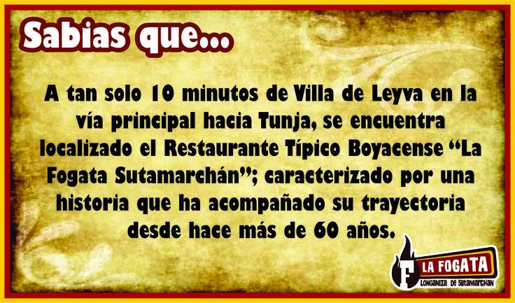 A tan solo 10 minutos de la hermosa Villa de Leyva: Restaurante La fogata