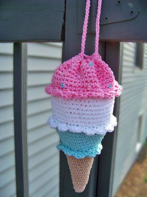 ice cream cone purse