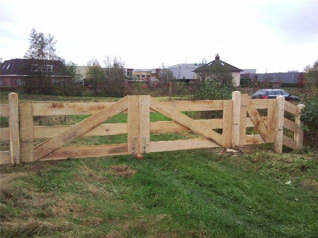 Houten landhek project tussenhek pinterest boerderij for Tuin verbouwen