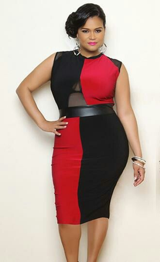 Red fishnet dress plus size
