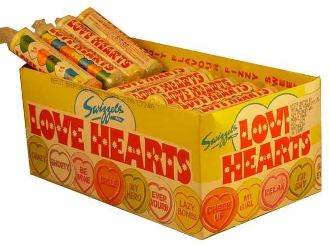 The Professors Tasty Technology - Love Hearts (36 Roll Display Unit), $19.63 (http://www.theprofessors.com.au/products/love-hearts-36-roll-display-unit.html)