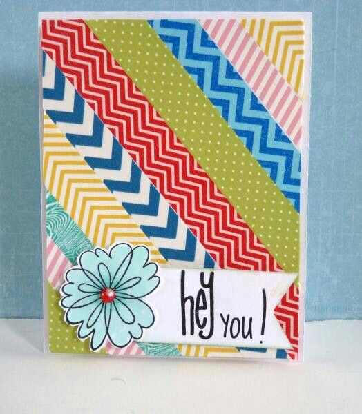 Charming Card Making Ideas Scrapbooking Part - 10: Cute Washi Tape Card Via Scrapbooksteals.com